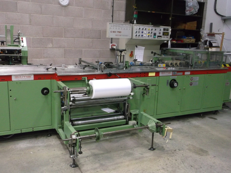 SITMA C80-750 Polythene wrapping line.